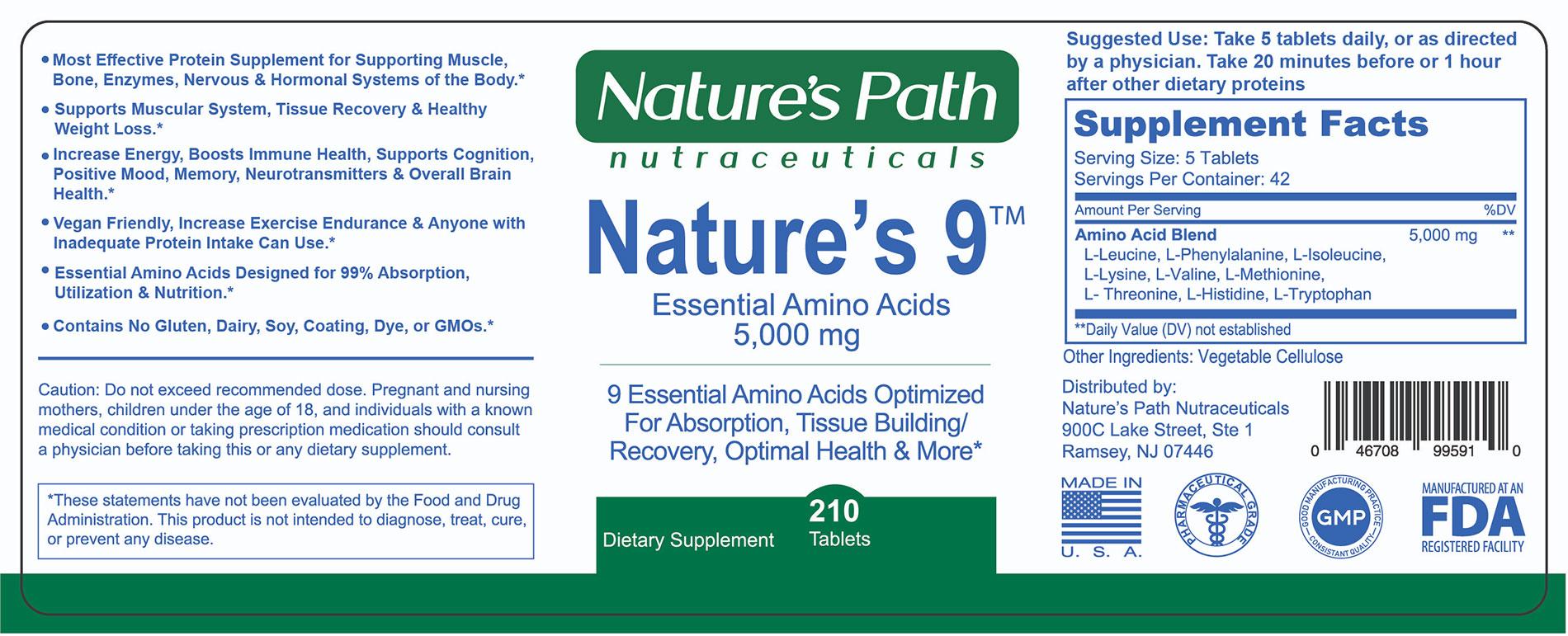 Natures 9 Essential Amino Acids